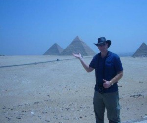 Tony at the Giza Pyramids