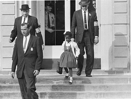 Ruby Bridges escorted to school by US Marshals