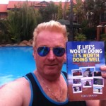 Author Tony Inman with an inspirational book for people facing change