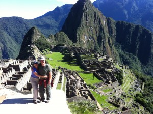 Tony and partner, Jo climbed the Inca Trail to Machu Picchu in 2014