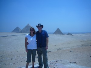 Tony and partner Jo enjoy the travel lifestyle