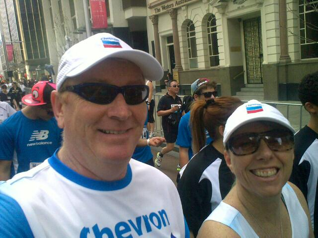 Tony & Jo complete Perth City to Surf