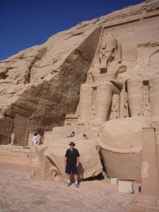 Tony at Abu Simbel, Egypt