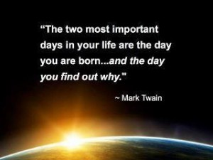 Mark Twain on finding your why