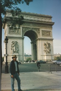 Fulfilling a dream of visiting Paris in 1994