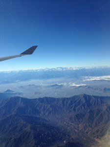 Flying over the spectacular Andes
