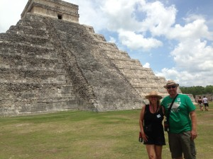 Where we wanted to be - the Mayan wonder of the world at Chichen Itza