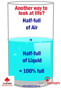 Do you see the glass as half-full or completely full?