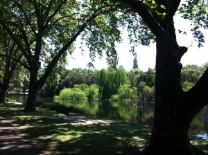 The beautiful Hyde Park in Perth